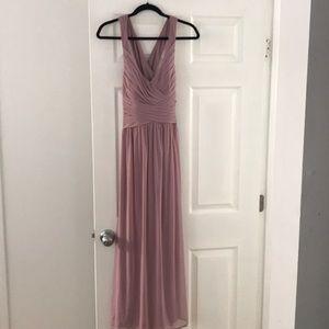 Blush bridesmaid dress